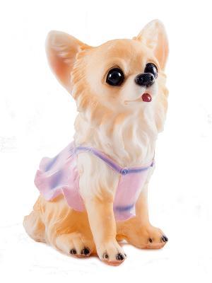 Копилка Собачка Русские подарки. Цвет: коричневый, голубой, бежевый