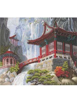 Набор для творчества Водопад и пагода Сделай своими руками. Цвет: белый