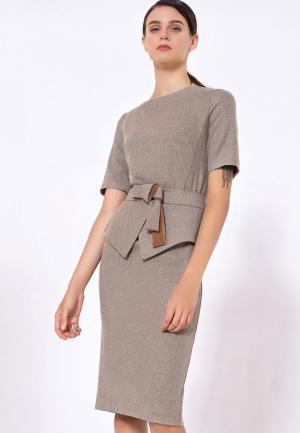 Платье JN. Цвет: бежевый