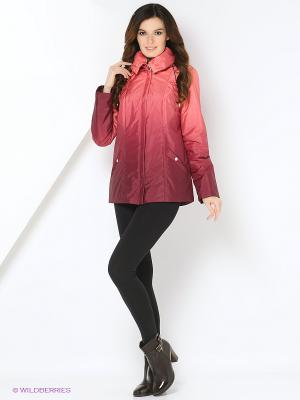Куртка MISHEL Maritta. Цвет: бордовый, оранжевый