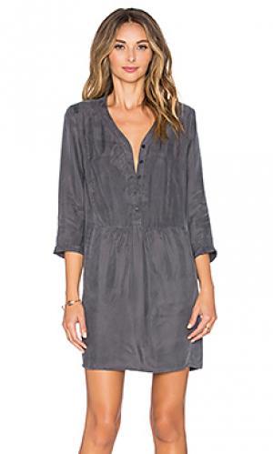 Платье с длинным рукавом rolini MKT studio. Цвет: серый