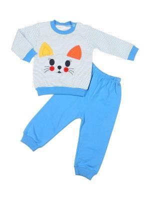 Пижама M-BABY. Цвет: голубой