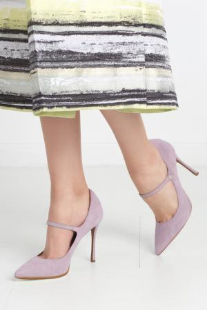 Замшевые туфли Lula Tabitha Simmons. Цвет: фиалковый