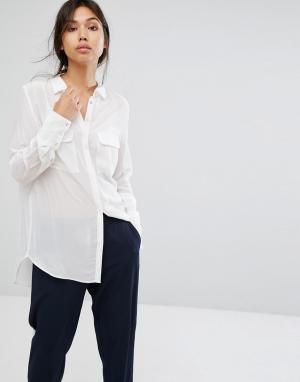 Gestuz Шелковая рубашка Vega. Цвет: белый