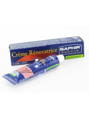 Восстановитель кожи Creme RENOVATRICE, 25 мл. (жидкая кожа)(91 грязно-розовый) Saphir. Цвет: розовый