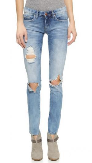 Состаренные джинсы-скинни Blank Denim. Цвет: good vibes