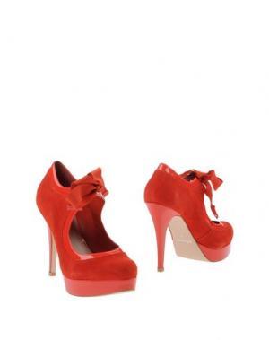 Ботинки CARVELA. Цвет: красный