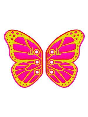 Декоративные крылья для кроссовок Butterfly for Shoes Donkey. Цвет: розовый