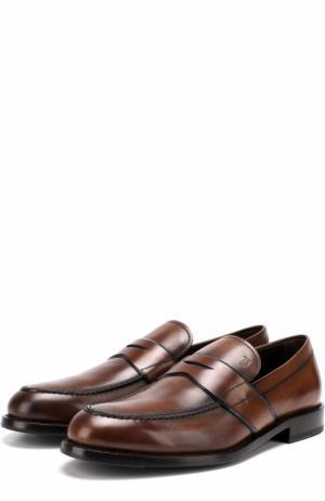 Кожаные пенни-лоферы Tod's. Цвет: коричневый