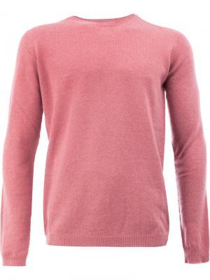 Джемпер с круглым вырезом Roberto Collina. Цвет: розовый и фиолетовый