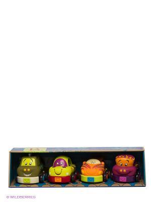 Набор из 4 машинок Battat. Цвет: оранжевый, желтый