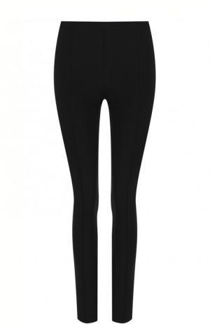 Однотонные брюки-скинни Helmut Lang. Цвет: черный