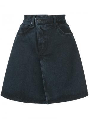 Джинсовая юбка PSWL Proenza Schouler. Цвет: серый