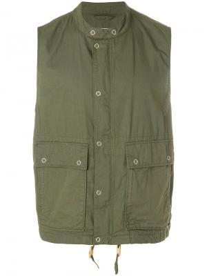 Жилет на пуговицах Engineered Garments. Цвет: зелёный