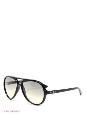 Очки солнцезащитные CATS 5000 Ray Ban. Цвет: черный
