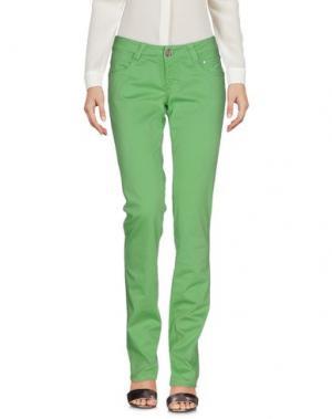 Повседневные брюки 9.2 BY CARLO CHIONNA. Цвет: светло-зеленый