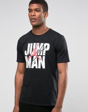 Jordan Черная футболка Nike Jumpman 801070-010. Цвет: черный