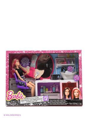 Игровой набор Салон красоты Barbie. Цвет: золотистый, розовый, черный