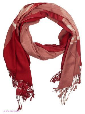 Палантин Vita pelle. Цвет: красный, коралловый