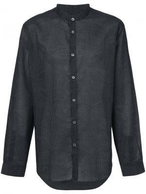 Рубашка с воротником-стойкой John Varvatos. Цвет: чёрный