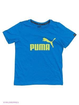 Футболка ESS No.1 Tee Puma. Цвет: синий