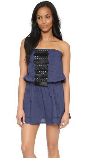 Платье Britt St. Roche. Цвет: индиго с черной вышивкой