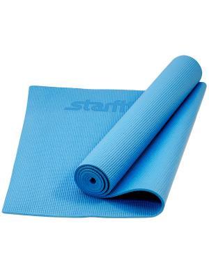 Коврик для йоги STARFIT FM-101 PVC 173x61x0,3 см, синий. Цвет: синий