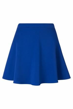 Хлопковая юбка BLANK.MOSCOW. Цвет: синий