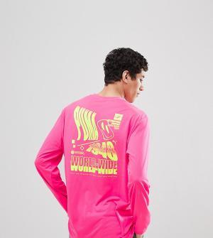 Puma Розовый лонгслив в графическим принтом эксклюзивно для ASOS. Цвет: розовый