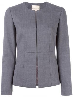 Пиджак без воротника Erika Cavallini. Цвет: серый
