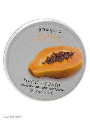 Крем для рук Папайя Greenland. Цвет: белый, серебристый