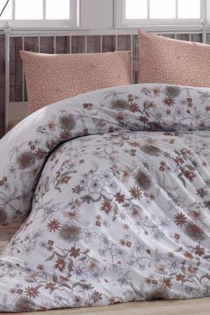 Двуспальный комплект белья Marie claire. Цвет: white, gray, brown