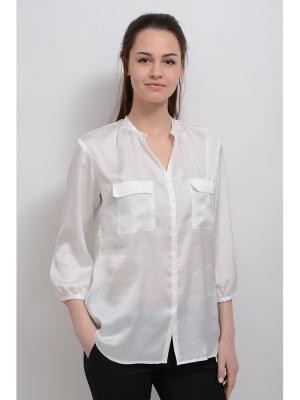 Блуза Антель LINO RUSSO. Цвет: белый
