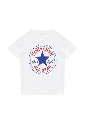 Футболка Converse. Цвет: белый