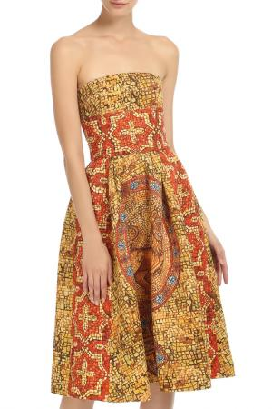 Платье-бандо с пышной юбкой DOLCE & GABBANA. Цвет: оранжевый