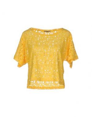 Блузка SHE WISE. Цвет: желтый