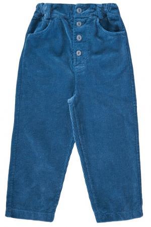 Хлопковые брюки Howlite Caramel Baby&Child. Цвет: синий