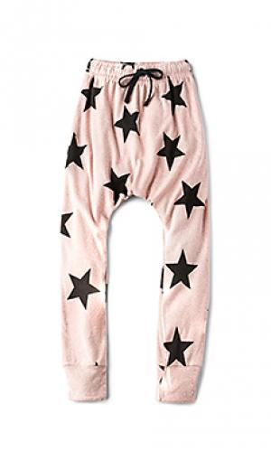Star baggy pants Nununu. Цвет: розовый