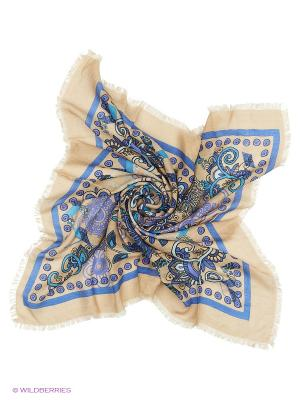 Платок Vittorio Richi. Цвет: бежевый, синий