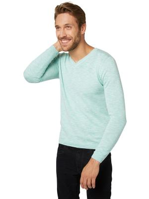 Пуловер TOM TAILOR. Цвет: голубой