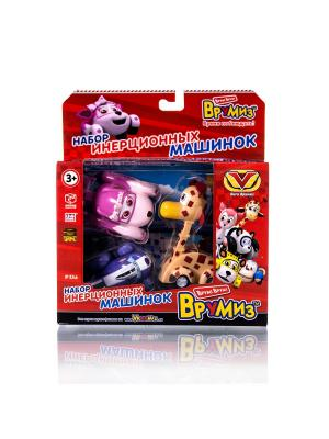 Игрушка Врумиз набор инерционных машинок Люси, Спанки, Джери. Цвет: красный