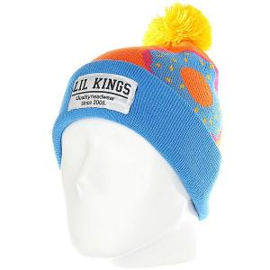 Шапка  Pon-pon Donuts Blue Lil Kings. Цвет: синий,оранжевый