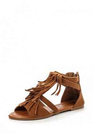 Сандалии Exquily. Цвет: коричневый