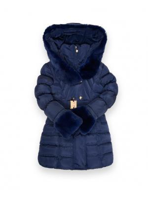 Пальто De Salitto. Цвет: темно-синий
