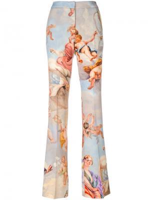 Расклешенные брюки с рисунком Fresco Moschino. Цвет: многоцветный