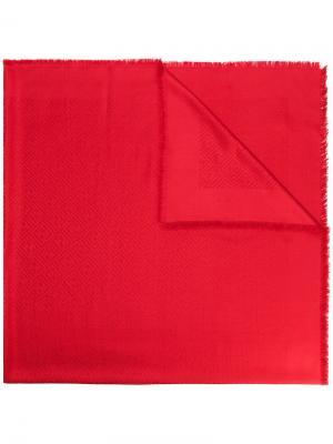 Шаль с узором в логотипы Fendi. Цвет: красный
