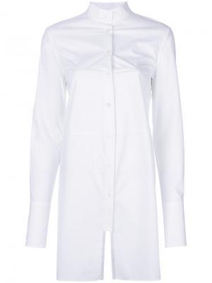 Удлиненная рубашка с панельным дизайном Ter Et Bantine. Цвет: белый