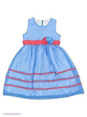 Платье Wonderland. Цвет: синий, красный