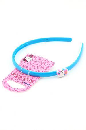 Ободок Hello Kitty. Цвет: синий