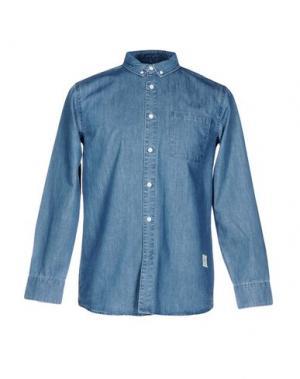 Джинсовая рубашка WEMOTO. Цвет: синий